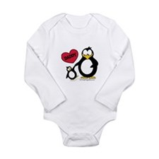 Heart Daddy Penguin Long Sleeve Infant Bodysuit