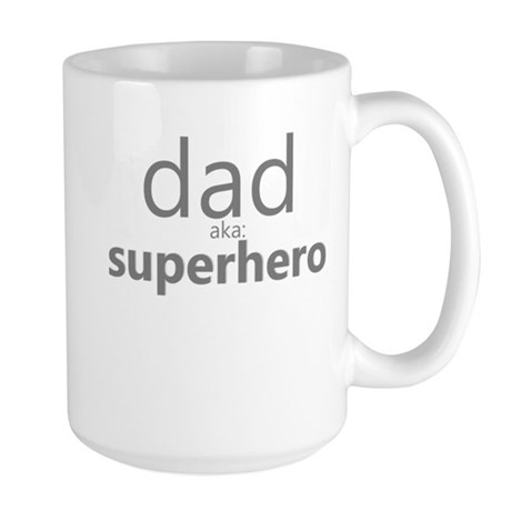 dad aka superhero Large Mug