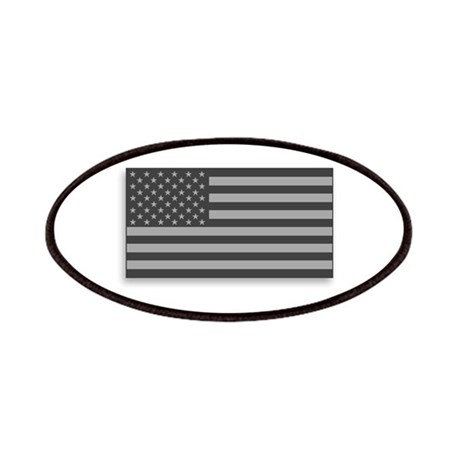 USA American Flag Gray Camo Patches