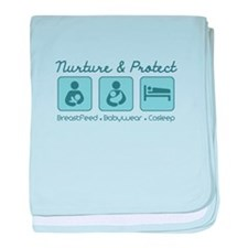 Funny Attached parenting baby blanket