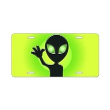 Alien Aluminum License Plate