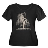 Weeping Willow Tree Women's Plus Size Scoop Neck D