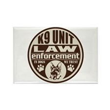 In Dogs We Trust K9 Unit Brown Rectangle Magnet