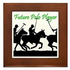 Future Polo Player Framed Tile