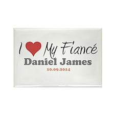 I Heart My Fiancé Rectangle Magnet
