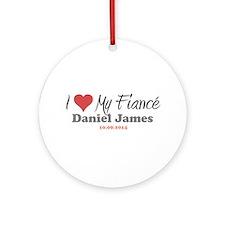 I Heart My Fiancé Ornament (Round)