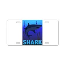 Graphic Shark Aluminum License Plate