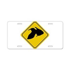 Goldfish Crossing Sign Aluminum License Plate