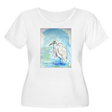 Egret, beautiful, bird art, T-Shirt