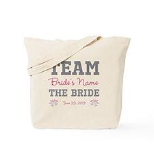 Personalized Team Bride Tote Bag