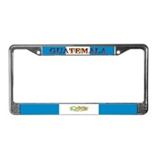 Guatemala Blank Flag License Plate Frame