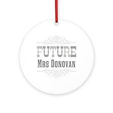 Personalized Future Mrs Ornament (Round)