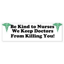 Funny Nurse Bumper Sticker