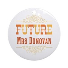 Orange Future Mrs Ornament (Round)