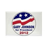Gary Johnson for President Rectangle Magnet