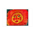 Sun Face 35x21 Wall Decal