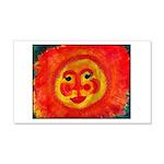 Sun Face 20x12 Wall Decal
