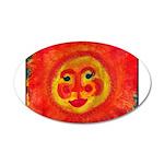 Sun Face 20x12 Oval Wall Decal