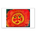 Sun Face Sticker (Rectangle 50 pk)