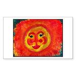 Sun Face Sticker (Rectangle 10 pk)