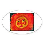 Sun Face Sticker (Oval 10 pk)