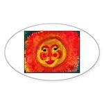 Sun Face Sticker (Oval)