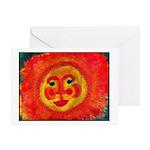 Sun Face Greeting Card