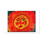 Sun Face Mini Poster Print