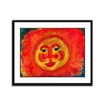 Sun Face Framed Panel Print