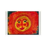 Sun Face Rectangle Magnet (100 pack)