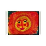 Sun Face Rectangle Magnet (10 pack)