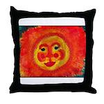 Sun Face Throw Pillow