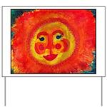 Sun Face Yard Sign
