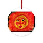Sun Face Ornament (Round)