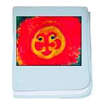 Sun Face baby blanket
