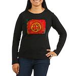 Sun Face Women's Long Sleeve Dark T-Shirt