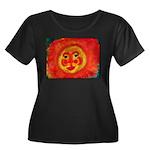 Sun Face Women's Plus Size Scoop Neck Dark T-Shirt