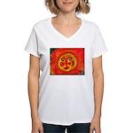 Sun Face Women's V-Neck T-Shirt