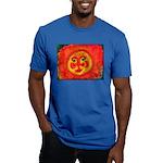 Sun Face Men's Fitted T-Shirt (dark)