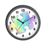Abstract Autism Puzzle Wall Clock