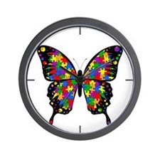Autism Butterfly Wall Clock