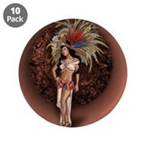 "Aztec Princess Pin-Up 3.5"" Button (10 pack)"