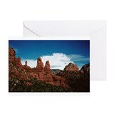 """Red Rocks of Sedona""Greeting Cards (Pac"