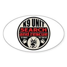 K9 Search and Rescue Decal