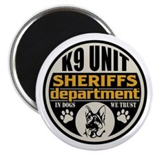 "K9 Unit Sheriffs Department 2.25"" Magnet (100 pack"