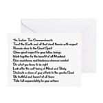 10 Commandments Greeting Cards (Pk of 10)