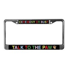 Ceremony License Plate Frame