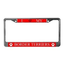 Red I Love My Border Terriers Frame