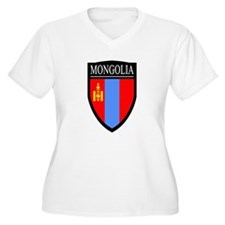 Mongolia Flag Patch T-Shirt