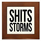 Shits Storms Framed Tile